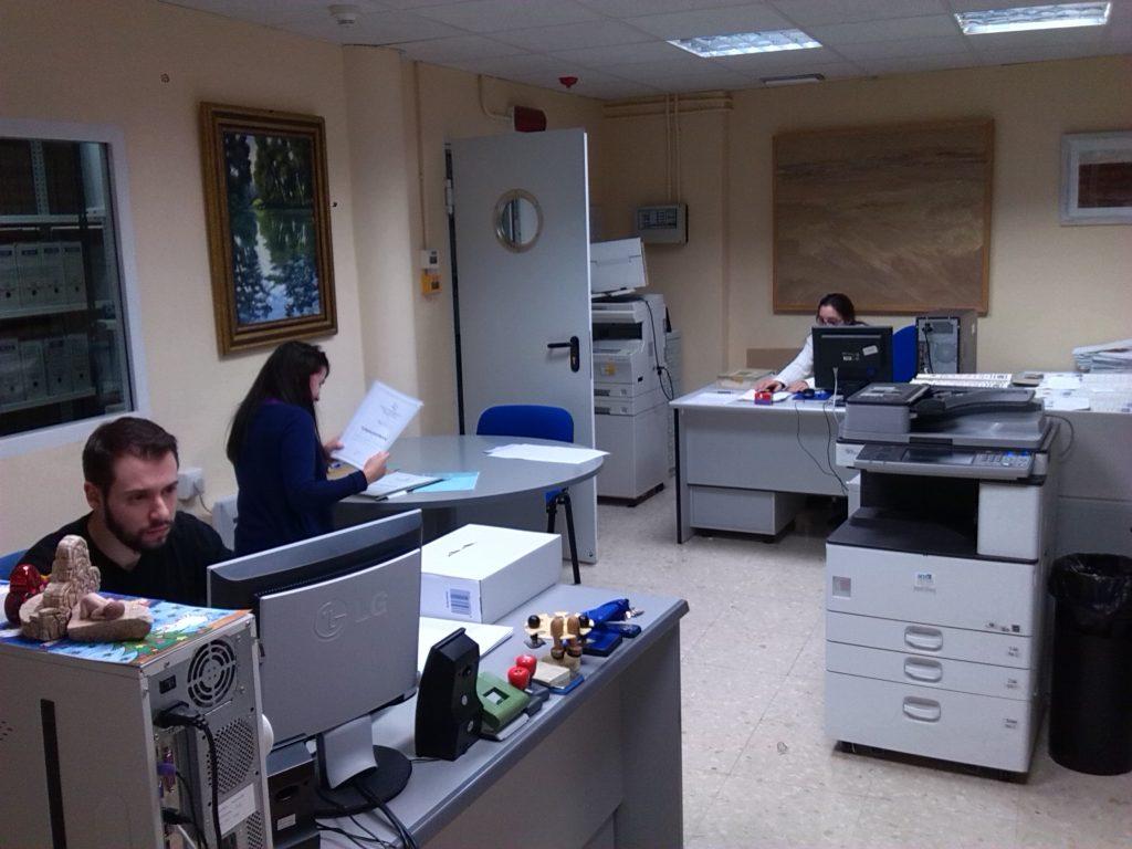 Oficina de trabajo del Archivo Municipal de Tomelloso
