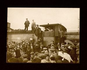 Llegada del ferrocarril a Tomelloso en septiembre de 1914.