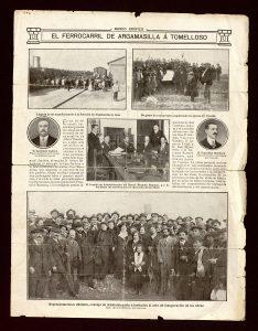 Hoja suelta de la Revista Mundo Gráfico de 1912.