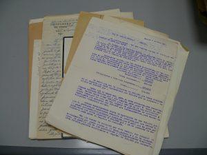 Documentación de uno de los bloques adquirido por el Área de Cultura
