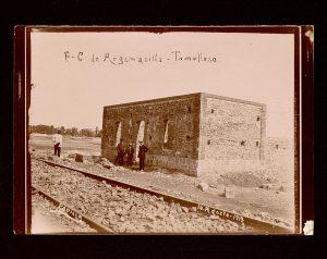 Obras de la estación de Argamasilla de Alba.