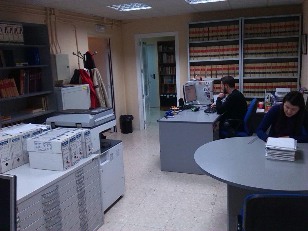 Sala de trabajo del Archivo Municipal de Tomelloso.